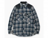 [and wander]   wool check shirt (M)