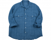 <img class='new_mark_img1' src='//img.shop-pro.jp/img/new/icons50.gif' style='border:none;display:inline;margin:0px;padding:0px;width:auto;' />[PORTER CLASSIC] ROLL UP LINEN CHECK SHIRT