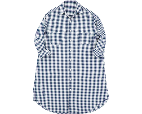[PORTER CLASSIC] ROLL UP GINGHAM CHECK SHIRT DRESS (for PC LADIES)