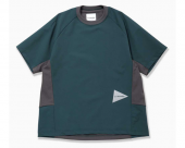 [and wander] hybrid base layer short sleeve T