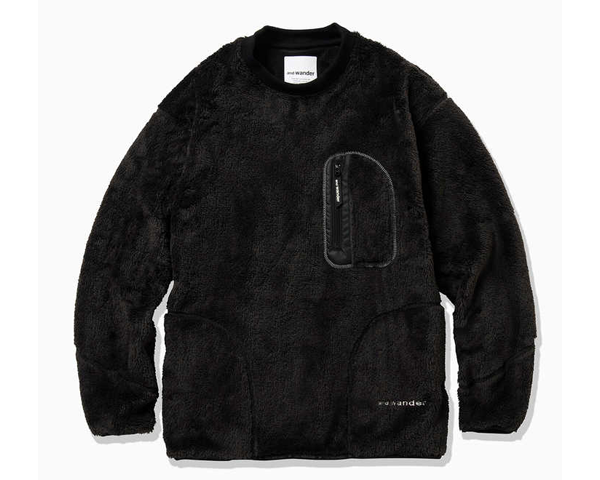<img class='new_mark_img1' src='https://img.shop-pro.jp/img/new/icons50.gif' style='border:none;display:inline;margin:0px;padding:0px;width:auto;' />[and wander]high loft fleece pullover