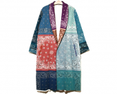 <img class='new_mark_img1' src='//img.shop-pro.jp/img/new/icons1.gif' style='border:none;display:inline;margin:0px;padding:0px;width:auto;' />[Children of the discordance]VINTAGE BANDANA PATCHWORK ROBE (MIX)