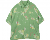 <img class='new_mark_img1' src='//img.shop-pro.jp/img/new/icons1.gif' style='border:none;display:inline;margin:0px;padding:0px;width:auto;' />[PORTER CLASSIC] SHOWFOLK ALOHA SHIRT GREEN