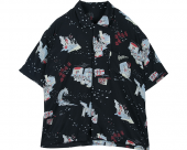 <img class='new_mark_img1' src='//img.shop-pro.jp/img/new/icons1.gif' style='border:none;display:inline;margin:0px;padding:0px;width:auto;' />[PORTER CLASSIC] SHOWFOLK ALOHA SHIRT BLACK