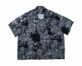 <img class='new_mark_img1' src='//img.shop-pro.jp/img/new/icons1.gif' style='border:none;display:inline;margin:0px;padding:0px;width:auto;' />[PORTER CLASSIC] HEART ALOHA SHIRT BLACK