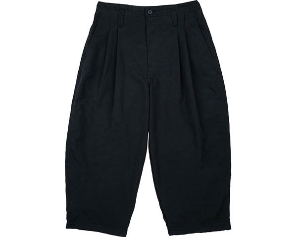 [PORTER CLASSIC] WEATHER TROUSERS -BLACK-