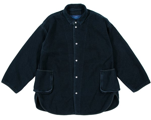 <img class='new_mark_img1' src='https://img.shop-pro.jp/img/new/icons50.gif' style='border:none;display:inline;margin:0px;padding:0px;width:auto;' />[PORTER CLASSIC]PC KENDO SHIRT JACKET W/SILVER BUTTONS DARK NAVY