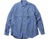 <img class='new_mark_img1' src='https://img.shop-pro.jp/img/new/icons1.gif' style='border:none;display:inline;margin:0px;padding:0px;width:auto;' />[PORTER CLASSIC] ROLL UP GINGHAM CHECK SHIRT -NAVY-