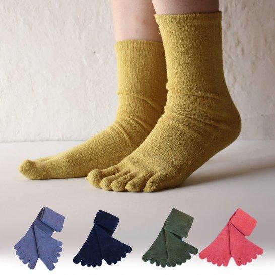 シルクの5本指靴下