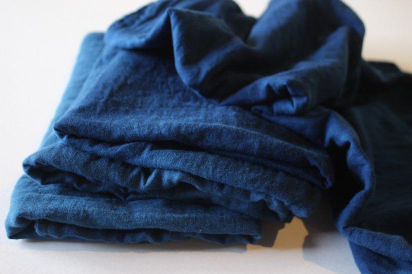 藍染ガーゼのふかふかタオル