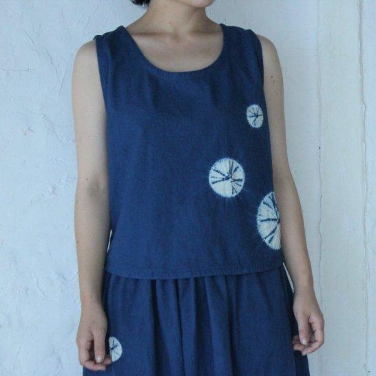 藍染*天球の旅*ノースリーブシャツ