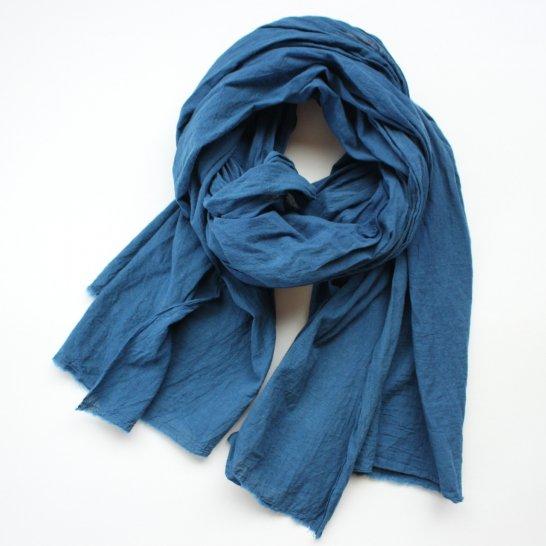 木綿の大判ストール《群青色》