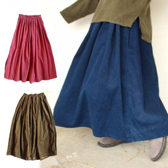 コーデュロイのふんわりギャザースカート
