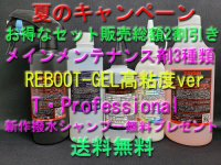 <img class='new_mark_img1' src='https://img.shop-pro.jp/img/new/icons5.gif' style='border:none;display:inline;margin:0px;padding:0px;width:auto;' />【夏のキャンペーン2021後半】【セット割引&送料無料】メインメンテナンス剤3種類+T・Professional+新作撥水シャンプー無料プレゼント!