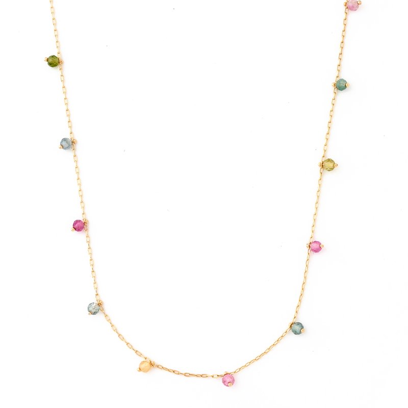 Tourmaline Beads Necklace K18