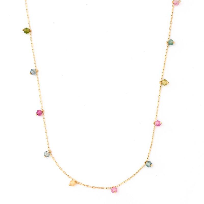 Tourmaline Beads Necklace K18