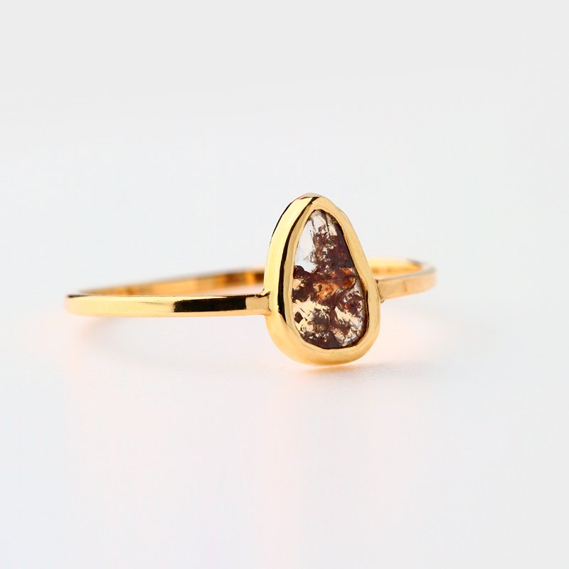 Sliced Diamond Ring K18