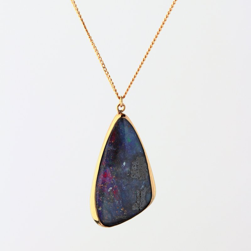 Boulder Opal Necklace K18