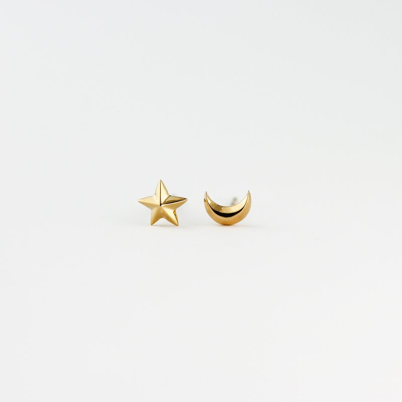 Star&Moon Pierce Little K18