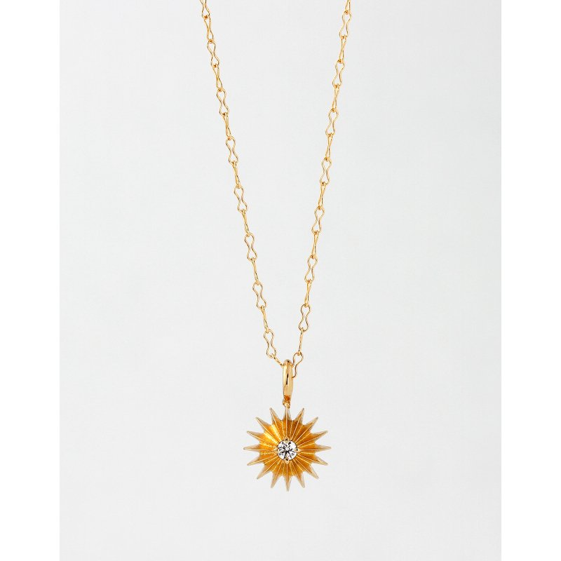 Sun Diamond Necklace K18