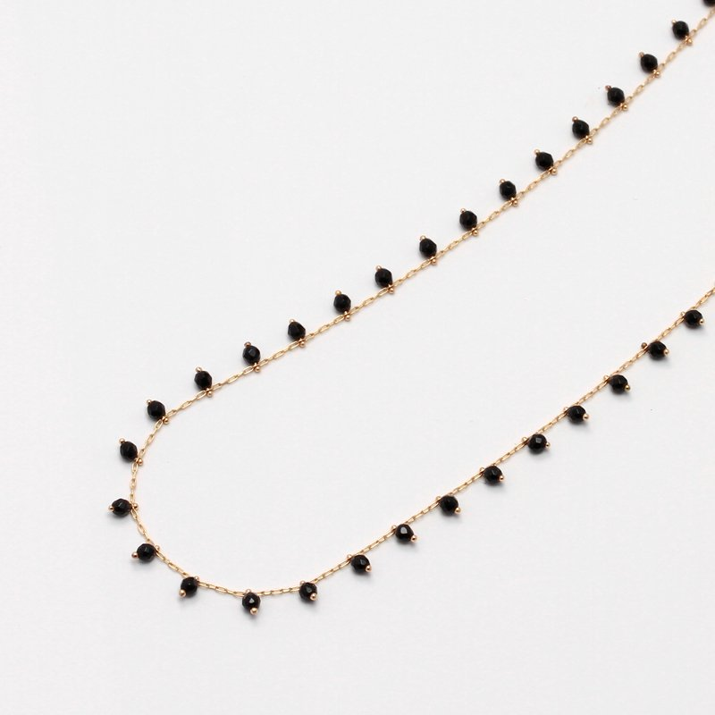 Onyx Beads Necklace K18