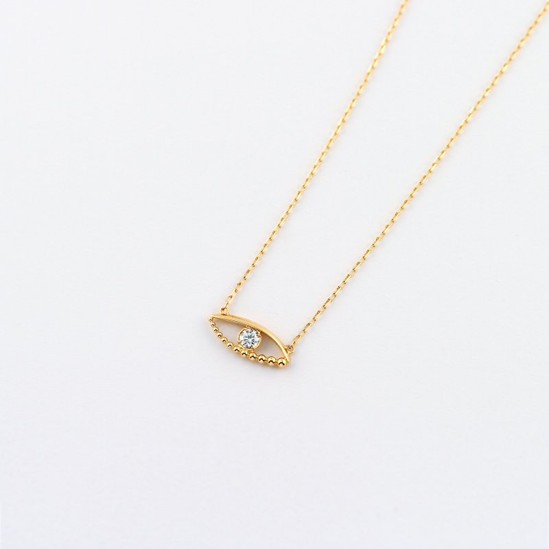 Phoenix Eye Diamond Necklace S  K18