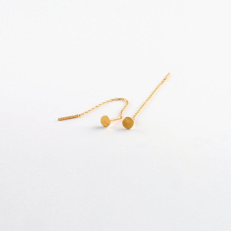 Lilypad Chain Pierce K18  8.5cm