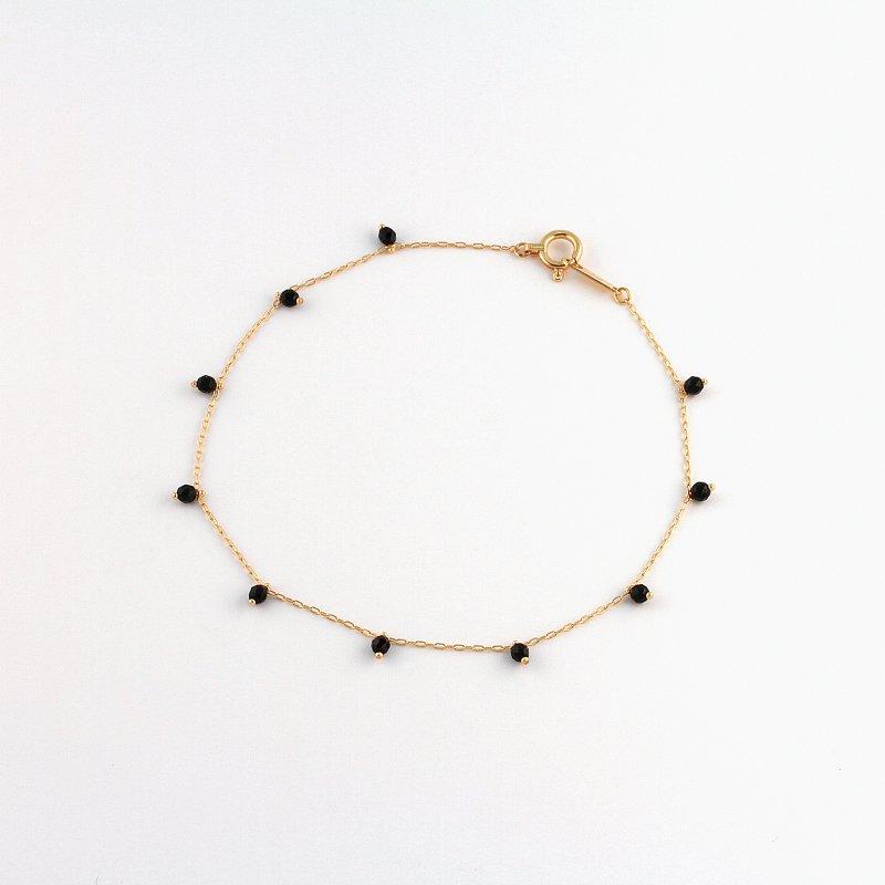 Onyx Beads Bracelet K18