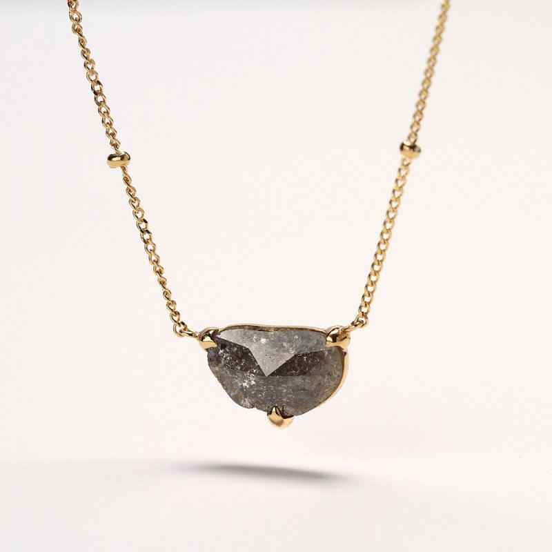 Sliced Diamond Necklace K18