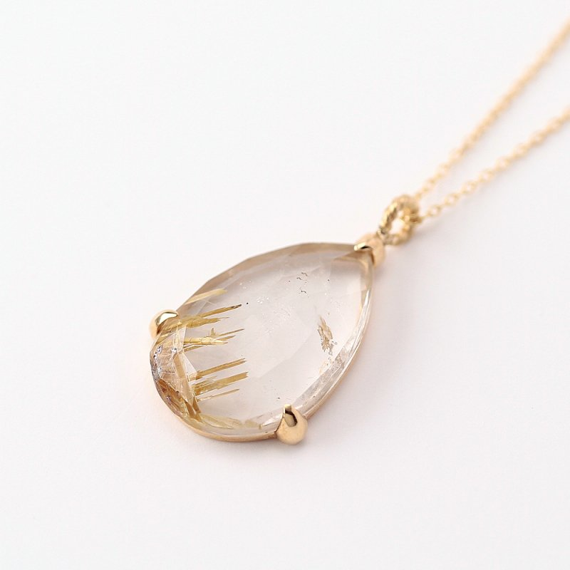 Rutile quartz Necklace K18