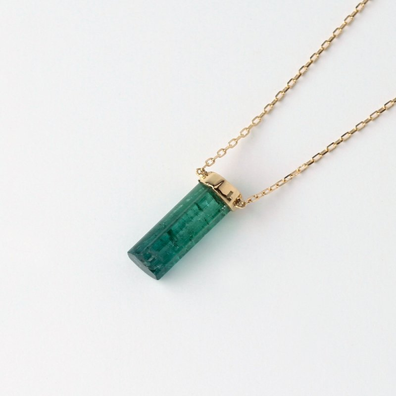 columnar Tourmaline Necklace K18