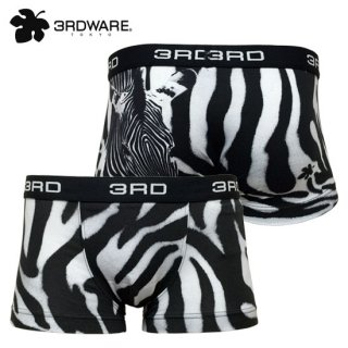 zebra on zebra「ゼブラ柄 on ゼブラ」ボクサーパンツ