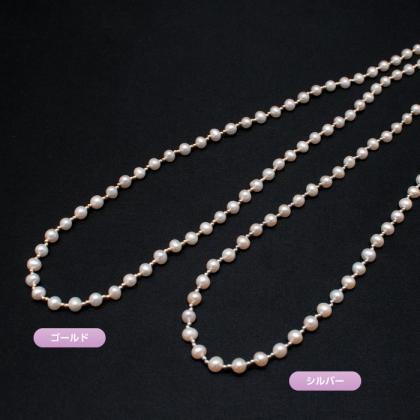 淡水真珠のロングネックレス