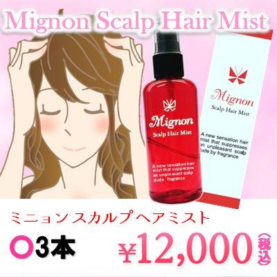 Mignon~ミニョン スカルプ ヘアミスト~3本