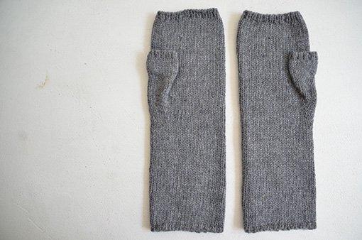手編みアームウォーマー