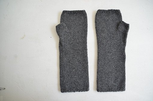 手編み カシミヤアームウォーマー