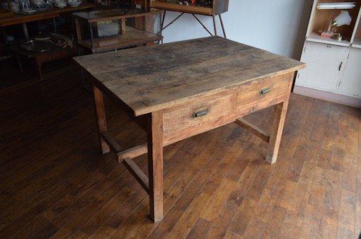 古い作業台_テーブル