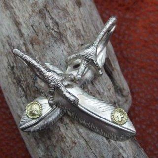 爪付き特大フェザー金縄イーグルの画像