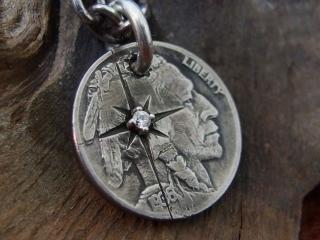 オールドコイン8本彫り天然ダイヤの画像