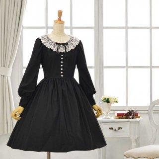 黒猫のドレス_ミディアム丈 7-13号(設定身長158cm)