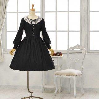 黒猫のドレス_ミディアム丈 Tall9-13号(設定身長_168cm/身長の高い方向け)