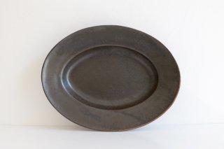 オーバル皿(ブロンズ) M