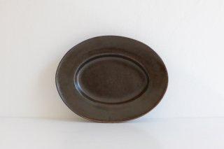 オーバル皿(ブロンズ) S