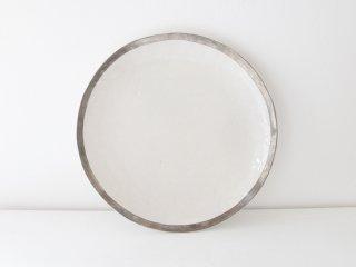 7寸皿(銀彩)縁どり