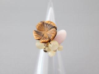 ミサキカナ タイガーアイのお花のリング