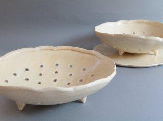水切り鉢(カスタードイエロー) A