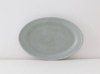オーバル皿(S)ブルー