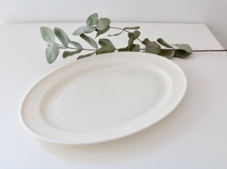 オーバル皿(M)ホワイト