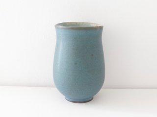 鯨井円美 つぼみ湯呑み (ブルー)