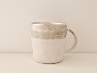 マグカップ(銀彩) 白&シルバー